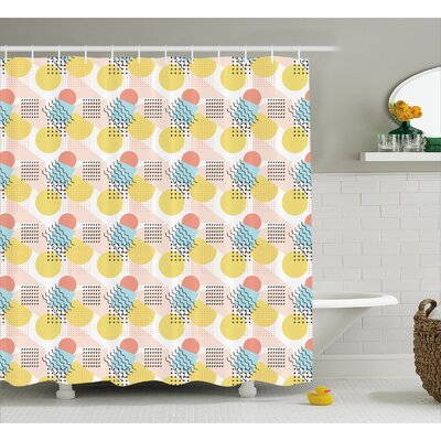 Bergevin Unusual Trippy Lines Shower Curtain Size: 69 W x 70 L