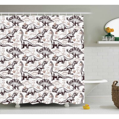 Kellen Reptiles Shower Curtain Size: 69 W x 75 L
