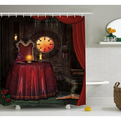 Gothic Mystic Magician Decor Shower Curtain Size: 69 W x 75 L