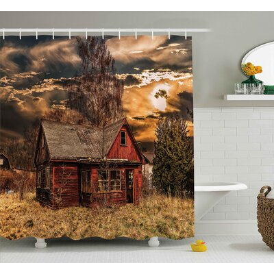 Scenery Horror Movie Theme Shower Curtain Size: 69 W x 84 L