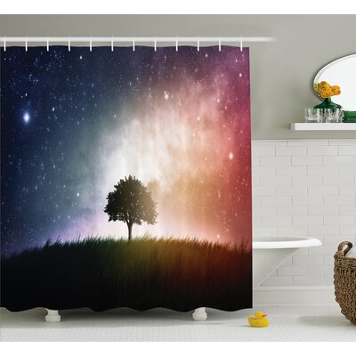 Helga Tree in Field with Stars Shower Curtain Size: 69 W x 84 L