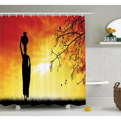 Avia Lady Shower Curtain Size: 69 W x 70 L