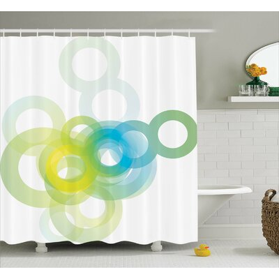 Whittier Modern Ombre Circle Shower Curtain Size: 69 W x 75 L