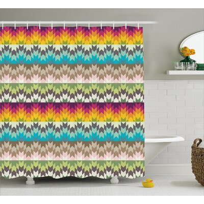 Baltz Ethnic Tribal Pattern Shower Curtain Size: 69 W x 75 L