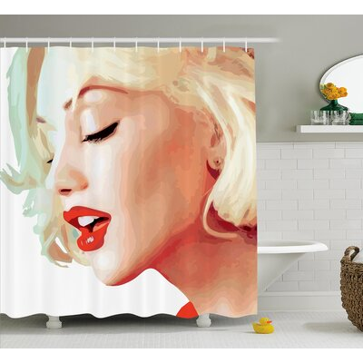 Brys Decor Blonde Chic Girl Shower Curtain Size: 69 W x 75 L