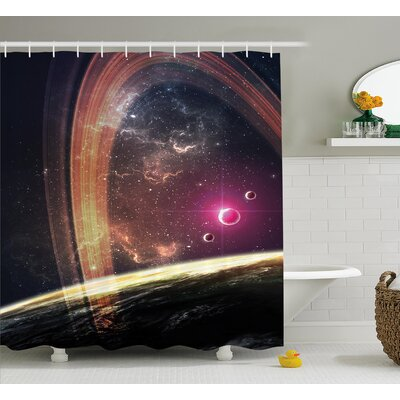 Belz Nabula Dust with Stars Shower Curtain Size: 69 W x 75 L
