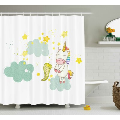 Axel Fairies Print Shower Curtain Size: 69 W x 70 L