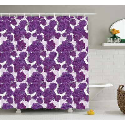 Amirah Allium Flower Petals Shower Curtain Size: 69 W x 75 L