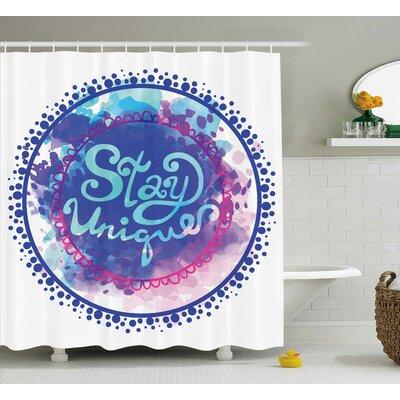 Ilona Watercolor Style Shower Curtain Size: 69 W x 75 L