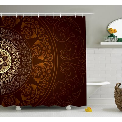 Audington Vintage Ethnic Asian Shower Curtain Size: 69 W x 84 L