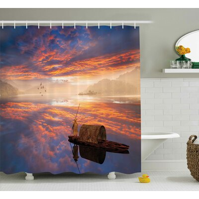 Fantastic Man Shower Curtain Size: 69 W x 75 L