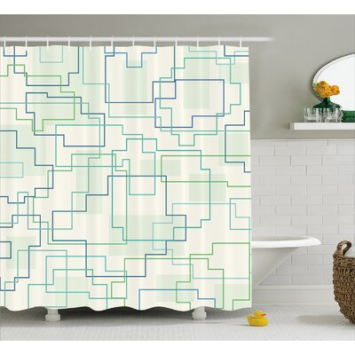 Fabian Future Town Decor Shower Curtain Size: 69 W x 75 L
