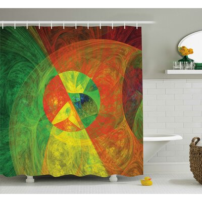 Anamaria Abstract Artsy Surreal Shower Curtain Size: 69 W x 70 L