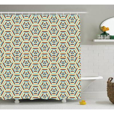 Bergerson Pop Art Retro Style Shower Curtain Size: 69 W x 70 L