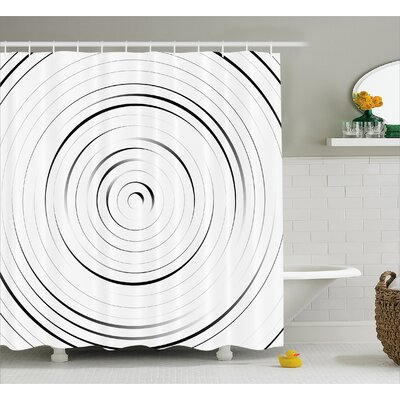 White Modern Decor Pattern Shower Curtain Size: 69 W x 75 L