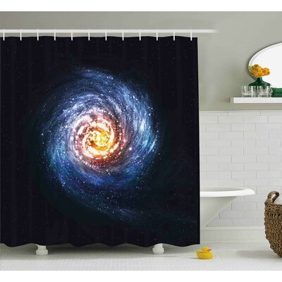 Mysterious Space Road Shower Curtain Size: 69 W x 75 L