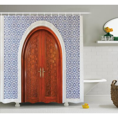 Atonvale Antique Stars Wooden Door Shower Curtain Size: 69 W x 84 L