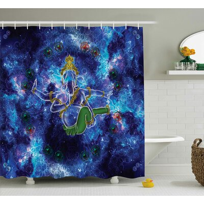 Baumann Indian Cosmos Harmony Shower Curtain Size: 69