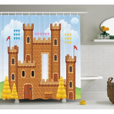 Shannon Game Castle Leisure Hobby Shower Curtain Size: 69