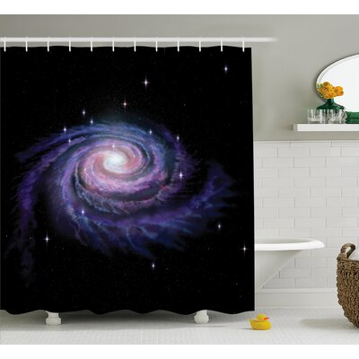 Celestial Dust Shower Curtain Size: 69 W x 75 L