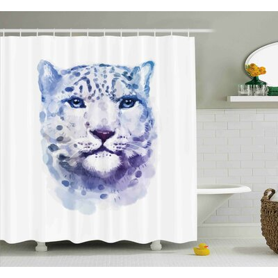 Animal Artsy Leopard Wild Cat Shower Curtain Size: 69 W x 84 L