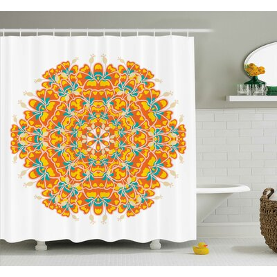 Cortland Exotic Flower Floral Shower Curtain Size: 69 W x 70 L