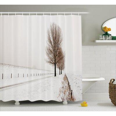 Banjo Snow Winter Frozen Shower Curtain Size: 69 W x 84 L