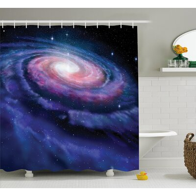 Nebula in Outer Space Shower Curtain Size: 69 W x 70 L