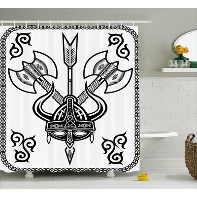 Viking Celtic War Style Design Shower Curtain Size: 69 W x 70 L