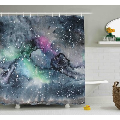 Floriana Celestial Cosmic Shower Curtain Size: 69 W x 84 L