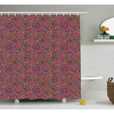 Aya Asian South Decor Shower Curtain Size: 69 W x 84 L