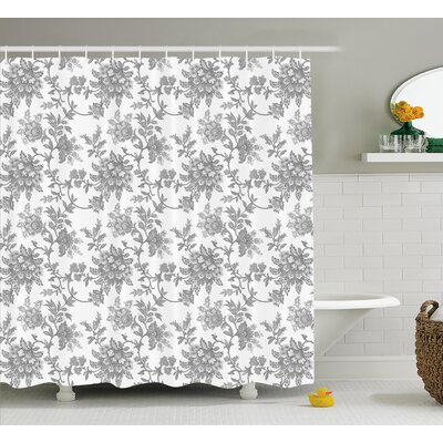 Izora Ethnic Asian Petals Shower Curtain Size: 69 W x 84 L
