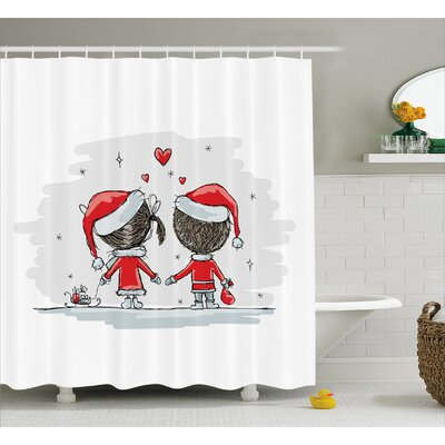 Christmas Kids Santa Costumes Shower Curtain Size: 69 W x 84 L