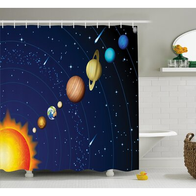 Justyn Solar System with Sun Shower Curtain Size: 69 W x 70 L