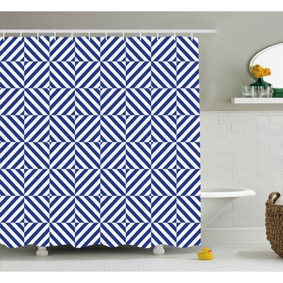 Sumiko Symmetric Line Decor Shower Curtain Size: 69 W x 70 L
