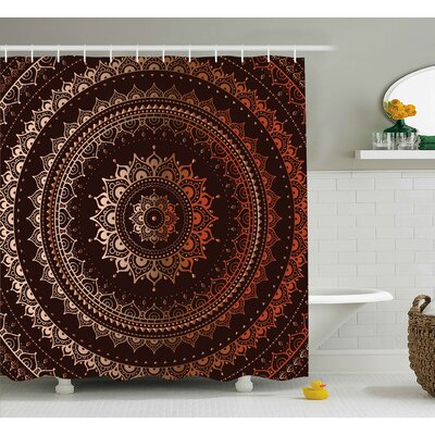 Audington Ethnic Indian Universe Shower Curtain Size: 69 W x 84 L