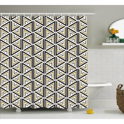Berger Triangle Shaped Lines Shower Curtain Size: 69 W x 70 L