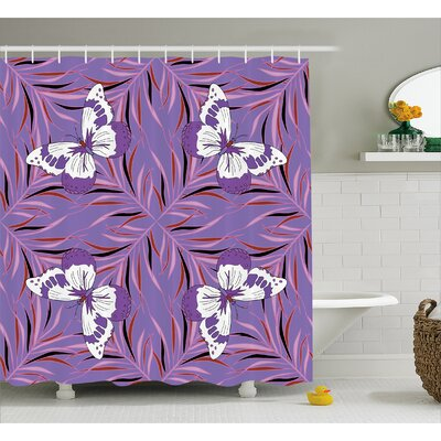 Ginette Animal with Fairy Wings Shower Curtain Size: 69 W x 70 L
