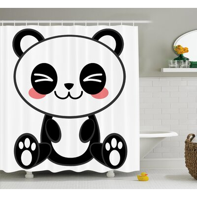 Anime Decor Japanese Manga Art Shower Curtain Size: 69 W x 70 L