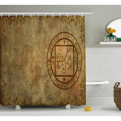 Celesse Ancient Textured Paper Shower Curtain Size: 69 W x 75 L