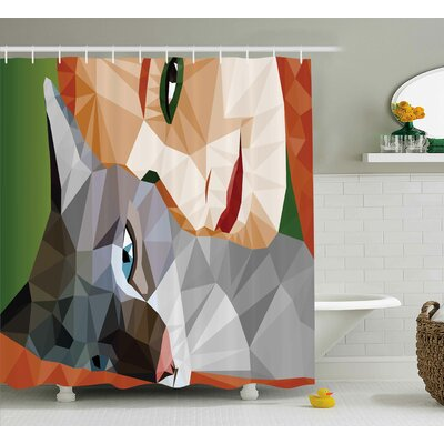 Fonda Geometric Mosaic Decor Shower Curtain Size: 69 W x 75 L