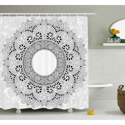Bellegarde Indian Asian Design Shower Curtain Size: 69 W x 75 L