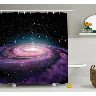 Outer Space Shower Curtain Size: 69 W x 70 L