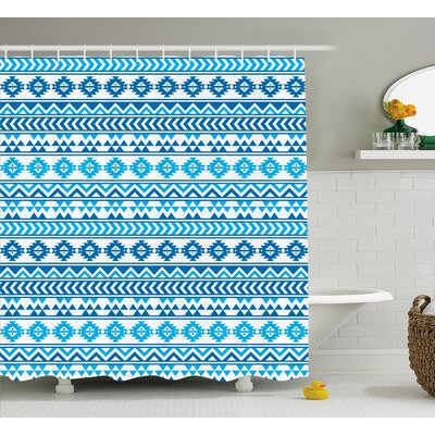 Israel Folk Cultural Forms Shower Curtain Size: 69 W x 84 L
