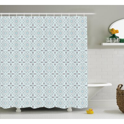 Baudoin Oriental Moroccan Art Shower Curtain Size: 69 W x 84 L