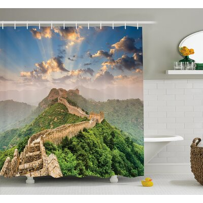 China Old Wonder on High Hill Shower Curtain Size: 69 W x 75 L