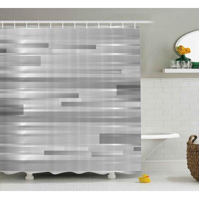 Enrique Striped Web Forms Shower Curtain Size: 69 W x 84 L
