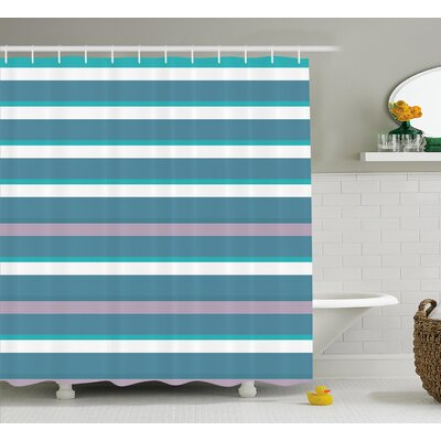 Zita Turquoise Teal Pattern Shower Curtain Size: 69 W x 84 L