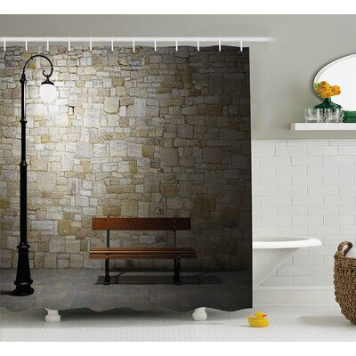 Street Dark Night Street View Shower Curtain Size: 69 W x 75 L