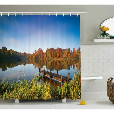 Scenery Fishing on a Lake View Shower Curtain Size: 69 W x 75 L